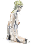 Silver Nude Paintings - Savour the moment by John Silver
