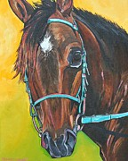 Colorful Horse Paintings - Savvy by Patti Schermerhorn
