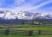 Mountain Art Mixed Media - Sawtooth Mountains - Country Scene by Photography Moments - Sandi