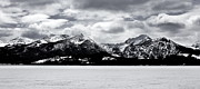 Sawtooth Mountains Metal Prints - Sawtooths In Winter Panorama Metal Print by Benjamin Yeager