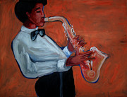 Jane See Art Prints - Sax 1952 Print by Janie McGee