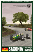 Rally Prints - Saxony Germany Grand Prix 1967 Print by Nomad Art And  Design