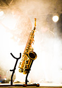 Rock And Roll Music Prints - Saxophone  Print by Bob Orsillo