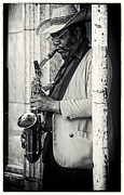 Chicago Blues Posters - Saxophone Player - Chicago Poster by Philip Sweeck