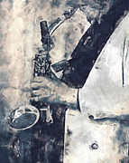 Improvisation Posters - Saxophone Player Poster by Philip Sweeck