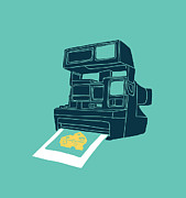 Vintage Digital Art Metal Prints - Say Cheese Metal Print by Budi Satria Kwan