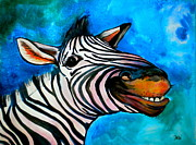 Blue And White Originals - Say Cheese by Debi Pople