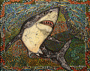 White Shark Painting Prints - Say Cheese Print by Melissa Cole