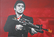 Al Pacino Painting Acrylic Prints - Say Hello To My Little Friend 2013 Acrylic Print by Luis Ludzska