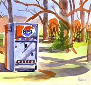 Water Colors Painting Originals - Say Pepsi Please by Kip DeVore