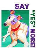 Animal Portrait Framed Prints Prints - Say Yes More Print by Jody Wright