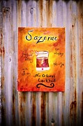 Sazerac On Rust Print by Marian Hebert