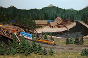 Union Bridge Prints - Scale Model Trains 5D21860 Print by Wingsdomain Art and Photography