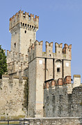 Castle Photo Metal Prints - Scaliger Castle Castello Scaligero Sirmione Italy Metal Print by Matthias Hauser