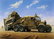 Ww2 Painting Posters - Scammell Pioneer 1942. Poster by Mike  Jeffries