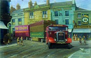 Old England Painting Prints - Scammell Showtrac Print by Mike  Jeffries