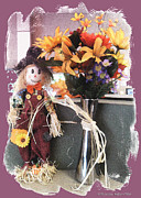Scarecrow And Company Print by Patricia Keller