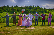 Dresses Photo Prints - Scarecrow Wedding Print by Garry Gay