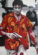 Acrylic On Canvas Painting Framed Prints - Scarface 2013 Framed Print by Luis Ludzska