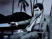 Tony Montana Framed Prints - Scarface - Al Pacino Framed Print by Shirl Theis