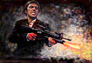 Al Pacino Digital Art Framed Prints - Scarface Framed Print by Viola El