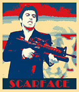 Al Pacino Mixed Media Framed Prints - Scarface Framed Print by Dominic Piperata