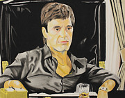 Scarface Pastels Framed Prints - Scarface Framed Print by Marvin Ryan