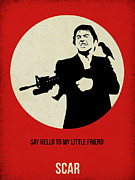 Famous Actors Posters Framed Prints - Scarface Poster Framed Print by Irina  March