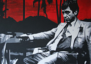 Brian De Palma Prints - Scarface - Sunset 2013 Print by Luis Ludzska