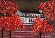Scarlet Christmas Print by Cyndi Kingsley