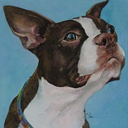 Boston Paintings - Scarlett by Carole Pivarnik