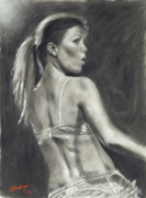 Female Pastels Originals - Scarlett DLyte I by John Silver