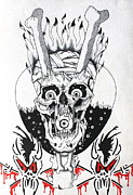 Metallica Drawings Posters - Scary Guy Poster by Jonathan Moore