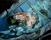 Toy Boat Paintings - Scattered Angels by Linda Guenste