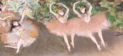 Ballet Framed Prints - Scene de ballet Framed Print by Edgar Degas