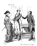 Gear Drawings Metal Prints - Scene from Pride and Prejudice by Jane Austen Metal Print by Hugh Thomson