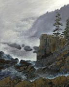 Park Scene Paintings - Scene from Quoddy Trail by Alison Barrett Kent