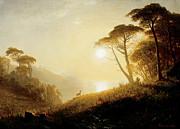 Famous Artists - Scene in Yosemite Valley by Albert Bierstadt