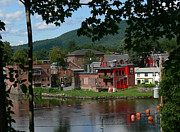 Deerfield River Framed Prints - Scene of Shelburne Falls Framed Print by Bill Marder