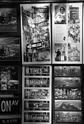 5th Ave Prints - SCENES OF NEW YORK in BLACK AND WHITE Print by Rob Hans