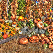 Autumn Farm Scenes Prints - Scenes of the Season Print by Joann Vitali