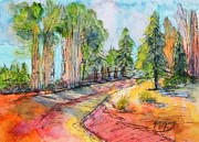 Scenic Drive Painting Posters - Scenic Drive Around The Corner Poster by Gayle McGinty