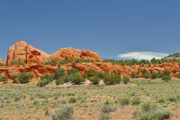 Rugged Photo Prints - Scenic Navajo Route 12 near Fort Defiance Print by Christine Till
