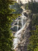 British Columbia Posters - Scenic Of Shannon Fallsbritish Columbia Poster by Robert Postma