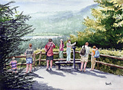 People Prints - Scenic Overlook Print by Sam Sidders