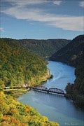 River View Pyrography Metal Prints - Scenic Overlook WV Metal Print by Daniel Behm