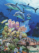Tropical Fish Posters - Scenic Route Re006 Poster by Carey Chen
