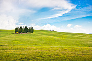 Tuscan Hills Framed Prints - Scenic Tuscany landscape Framed Print by JR Photography