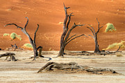 Juergen Klust Metal Prints - Scenic View at Sossusvlei Metal Print by Juergen Klust