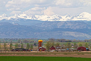 Colorado Scenic Framed Prints - Scenic View Looking Over Anderson Farms Up To Rockies Framed Print by James Bo Insogna